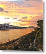 Sunset At Horsetooth Dam Co. Metal Print by James Steele