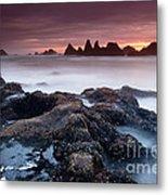 Sunset At Seal Rock Metal Print by Keith Kapple