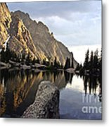 Sunset At Willow Lake Metal Print by Scotts Scapes