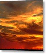 Sunset Bull  Metal Print by Cliff Norton