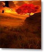 Sunset Duet Metal Print by Lourry Legarde