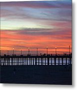 Sunset In San Diego Metal Print by Karen Becker