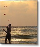 Sunset Juggling Metal Print by Stav Stavit Zagron