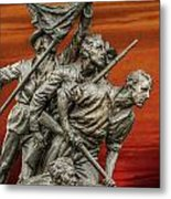 Sunset Of The Confederacy Pickett's Charge Metal Print by Randy Steele