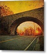 Sunset On Blue Ridge Parkway Metal Print by Kathy Jennings