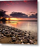 Sunset On The Rocks Metal Print by Cale Best