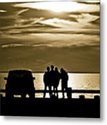 Sunset Silhouette Metal Print by Vicki Jauron