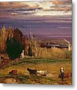 Sunshine After Storm Or Sunset Metal Print by George Snr Inness