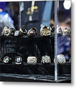 Super Bowl Rings  Metal Print by Brittany H
