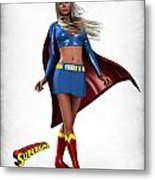 Super Girl Metal Print by Frederico Borges