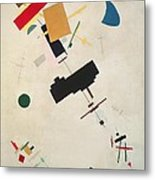Suprematist Composition No 56 Metal Print by Kazimir Severinovich Malevich