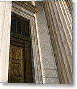 Supreme Court Entrance Metal Print by Roberto Westbrook