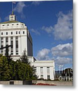 Supreme Court Of California . County Of Alameda . Oakland California View From Oakland Museum . 7d13 Metal Print by Wingsdomain Art and Photography