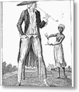 Surinam: Slave Owner, 1796 Metal Print by Granger