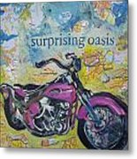 Surprising Oasis Metal Print by Tilly Strauss