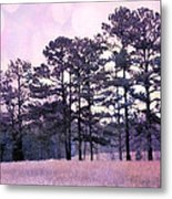 Surreal Fantasy Nature Purple Trees Landscape Metal Print by Kathy Fornal