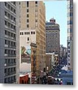 Sutter Street West View Metal Print by Wingsdomain Art and Photography