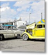 Swap Meet Plymouth And Chevy  Metal Print by Steve McKinzie