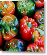 Sweet Peppers Metal Print by Guy Harnett