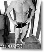 Swimmer 5 Metal Print by William Dey