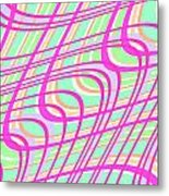 Swirly Check Metal Print by Louisa Knight