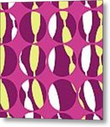 Swirly Stripe Metal Print by Louisa Knight