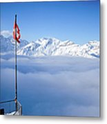 Swiss Alps Panorama Metal Print by Image by Christian Senger