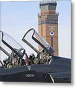 T-38 Talon Pilots Make Their Final Metal Print by Stocktrek Images