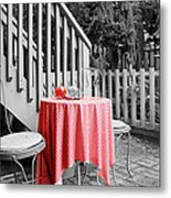 Table And Chairs Metal Print by Frank Nicolato