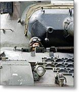 Tank Driver Of A Belgian Leopard 1a5 Metal Print by Luc De Jaeger