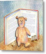Tea Bag Teddy Metal Print by Arline Wagner