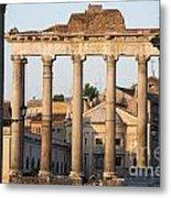 Temple Of Saturn In The Forum Romanum. Rome Metal Print by Bernard Jaubert
