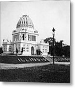Tennessee Centennial In Nashville - Illinois Building - C 1897 Metal Print by International  Images