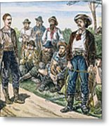 Texas Vigilantes, C1881 Metal Print by Granger