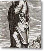 Thales Of Miletus, Greek Philosopher Metal Print by Middle Temple Library
