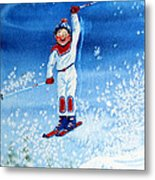 The Aerial Skier 15 Metal Print by Hanne Lore Koehler