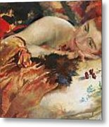 The Artist's Mistress Metal Print by Charles Sims