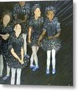 The Ballet Dancers Behind The Scene  Metal Print by Sara Garcia
