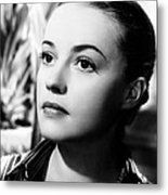The Bed, Jeanne Moreau, 1954 Metal Print by Everett