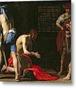 The Beheading Of John The Baptist Metal Print by Massimo Stanzione