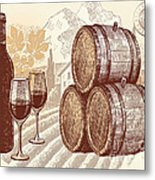 The Best Vintage Wine Metal Print by Cheryl Young