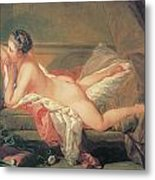 The Blonde Odalisque Metal Print by Francois Boucher