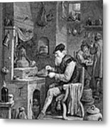 The Chemist, 17th Century Metal Print by Science Source