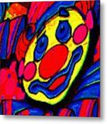 The Circus Circus Clown Metal Print by Wingsdomain Art and Photography