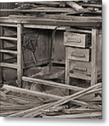The Cluttered Desk Metal Print by JC Findley