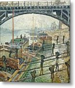 The Coal Workers Metal Print by Claude Monet