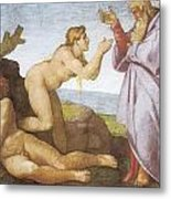 The Creation Of Eve Metal Print by Michelangelo Buonarroti