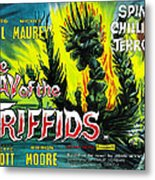 The Day Of The Triffids, British Poster Metal Print by Everett