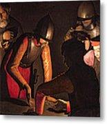 The Denial Of Saint Peter Metal Print by Georges De La Tour