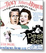 The Desk Set, Spencer Tracy, Katharine Metal Print by Everett